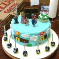 Super Mario Party Cake My first decorated cake EVER. November 2009
