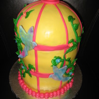 Birdcage Birthday Cake My daughter's 21st birthday cake. Cakes were Tropical Breeze with Pineapple cream filling, Chocolate with Toasted Marshmallow filling...