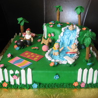 Backyard Blast Wilton & Joann's Cake Challenge This was my entry in the Backyard Blast Cake Challenge sponsored by Wilton & JoAnn's earlier this month. The cake had to be...