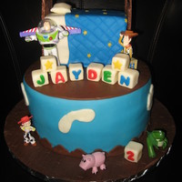 Andy's Room Toy Story Cake Andy's Room Toy Story Cake. Bottom tier Vanilla Bean and Bed is Chocolate. Toys were provided by Grandmother of the birthday boy. Head...