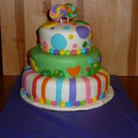 "Lalaloopsy Birthday Cake This is a 3 tier (10, 8, 6"") birthday cake i did for a friend. Bottom was vanilla with strawberry mousse filling, middle was chacolate..."