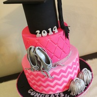 Girly Grad Congratulations to a grad who is active in dance and cheerleading and loves her girly bling!