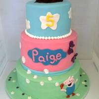 Peppa Pig Cake This Was Made For A Little Girl Through Operation Sugar A Nz Charity Providing Cakes For Seriously Ill Kids   Peppa Pig cake, this was made for a little girl through Operation Sugar, a NZ charity providing cakes for seriously ill kids.