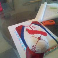1St Father's Day Cake St. Louis Cardinal Jersey for my Dad!