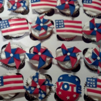 Patriotic Cupcakes The Pinwheel Was My Favorite   Patriotic Cupcakes, the pinwheel was my favorite