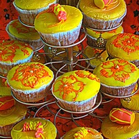 Dholki Cupcakes Dholki and henna cupcakes. I made these dholki and henna cupcakes for dear friends daughters dholki ( pre- wedding party) . I made small...