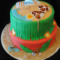 Beach Cake Fondant. Sand is brown sugar.