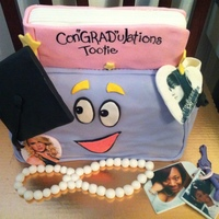 Graduation Cake The graduate (still) loves Dora. She also loves Taylor Swift & Justin Bieber, so I decided to make buttons of their image.