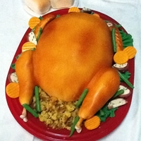 Thankgiving Turkey Cake Rolls are made out of RKTs. Turkey (cake), legs are made out of RKTs. Everything else is fondant!
