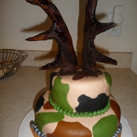 Camo antler/camo/bullet cake for friend