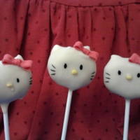 Hello Kitty Cake Pops I made these for my daughter to take to school on her birthday. i got the idea from bakerella. they were alot of fun to make. noses and...