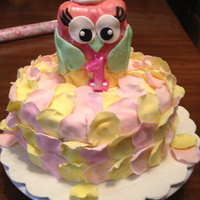 Birthday Cakes Owl 1st Birthday cake. Vanilla cake with vanilla buttercream.