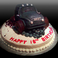 Off Road Jeep   Hand carved jeep cake for an off road enthusiast. This cake was made to celebrate his 18th birthday and graduation.