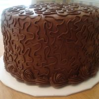 Chocolate Cornelli All chocolate buttercream