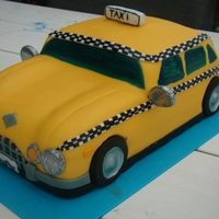 Yellow Cab   birthdaycake: yellow cab. taste inside rasberry and tiramisu
