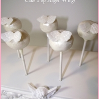 Angel Wings Cake Pops   Angel wings are hand sculpted from fondant. All edible