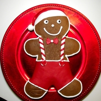 Gingerbread Man   Decorated with fondant and buttercream