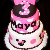 Minnie Mouse Cake Pink Minnie Mouse cake
