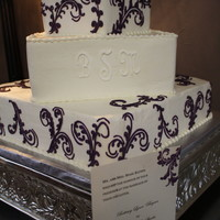 Wedding Cake Matched invitations for the design of cake!