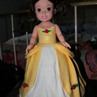 Disney Toddler Princess Belle Dolly Varden Style Disney toddler princess Belle Dolly Varden style