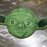 Yoda Thanks to cakes with L.O.V.E for their fantastic tutorial.
