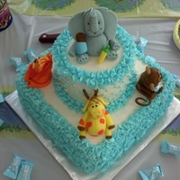 All Buttercream With Hand Scuplted Animals   All Buttercream with Hand Scuplted Animals
