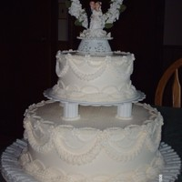Small Wedding Cake Made For My Dad   Small Wedding cake made for my dad.