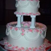 Small Cake With Simple Decoration For My Daughters Wedding   Small Cake with simple decoration for my daughter's wedding.