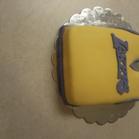 Lakers Cake! Jersey shape