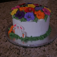 Easter Cake Pastry Pride frosting with RI Petunias and Bunny. Hope you like it!