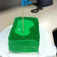 Golf Birthday Cake Made this on the downlow for my husband's birthday and surprised him at work with it- he loved it :) Everything in buttercream (except...