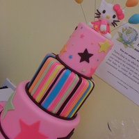 Hello Kitty the napkins were my inspiration for this cake....peanut free and all edible