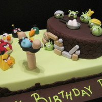 Angry Birds Cake This cake was inspired by one of the most common seen cakes on the web. It was for a yourng boy who loves them! It was a labour of love and...