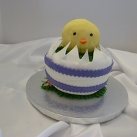 Easter Chick Easter Chick from a tutorial on Half Baked blog. Not as good as the original, but things were not going very smoothly when I made it. Cake...