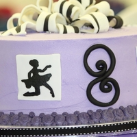 Dance Celebration Painted the silhouettes on the fondant squares.