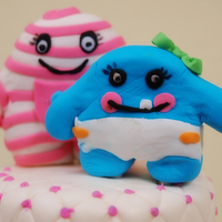 Little Monster Baby Shower Cake