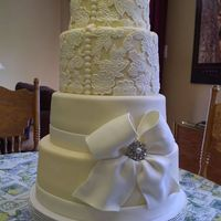 Wedding Cake Using Lace Mold The Bride A Family Freind Found This Cake On Line And Fell In Love With It I Hope Whoever Did The Original Wedding cake using lace mold, the bride, a family freind, found this cake on line and fell in love with it. I hope whoever did the original...