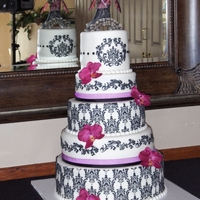 Five Tier Damask This was my first five tier, I must say it turned out wonderful, but it taught me a few lessons along the way. Like you know who says &quot...