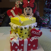 Popular Birthday Themes Minnie in something other than pink, fun cake to do.