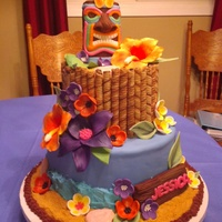 Luau Themed Birthdayhad To Try To Duplicate A Cake Customer Had Seen Did My Best Loved How It Turned Out Customer Was Very Happy Luau themed birthday,had to try to duplicate a cake customer had seen. Did my best , loved how it turned out, customer was very happy.