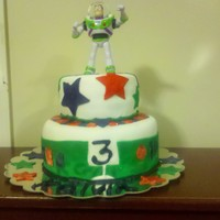 The Infamous Buzz Lightyear Birthday Cake   Copied from numerous CCers. Lol. Mom seen the pic and requested it.