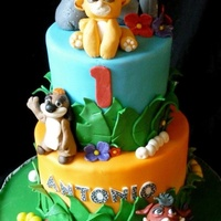 Lion King Inspired 1St Birthday Cake   Lion King inspired 1st birthday cake