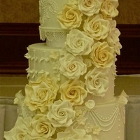 3 Tier Wedding Cake Inspired By The Royal Wedding Cake Of Prince William And Kate Adorned With Sugar Roses And Hand Piping Detail By Cru 3 Tier wedding cake inspired by the Royal Wedding Cake of Prince William and Kate. Adorned with sugar roses and hand piping detail. By...