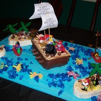 Pirate Birthday Cake This was a birthday cake for my sons pirate-themed party.