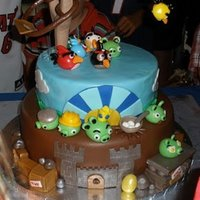 Zachary's Angry Birds 5Th Birthday Cake This is a cake that I made for my son's 5th birthday. Unfortunately it was 100+ degrees outside during a rainstorm and we were all...