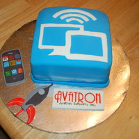 Avatron Corporate Cake One year anniversary cake of one of their apps
