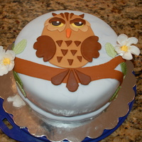 Whooo's Having A Baby? Baby shower cake for my co-teacher's shower. Baby room is an owl theme.