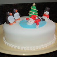 Oooppps...santa! Christmas cake for our family
