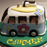 Vw Van Cake Chocolate cake with chocolate ganache