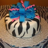 Zebra Cake   All done with mmf, zebra cake from the inside & out!